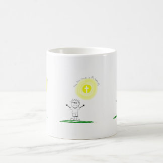 Cute Christian character with scripture Coffee Mug