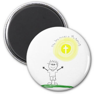 Cute Christian character with scripture Magnet