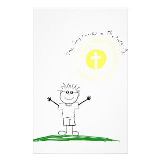 Cute Christian character with scripture Stationery