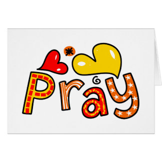 Cute Christian Pray Greeting Text Expression Card