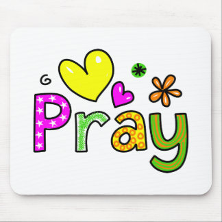Cute Christian Pray Greeting Text Expression Mouse Pad