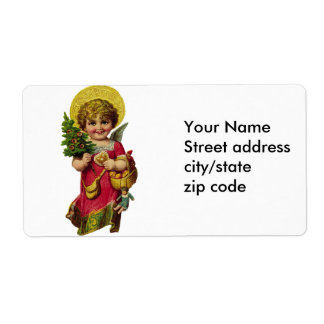 Cute Christmas Angel Shipping Label