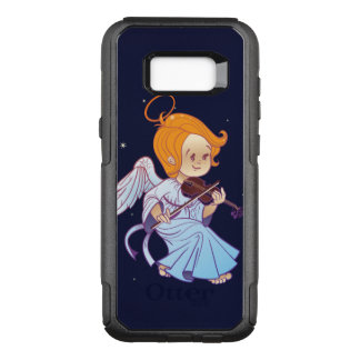 Cute Christmas  baby angel playing violin OtterBox Commuter Samsung Galaxy S8+ Case