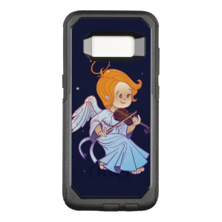 Cute Christmas  baby angel playing violin OtterBox Commuter Samsung Galaxy S8 Case