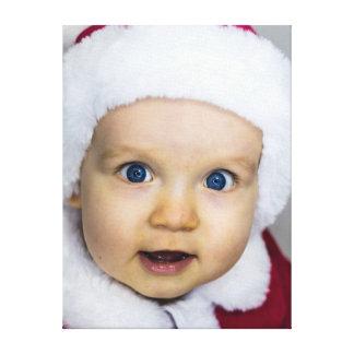 Cute Christmas baby Canvas Print