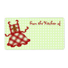 Cute Christmas Baker Kitchen Labels