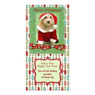 Cute Christmas Beaded Whimsy Custom Customised Photo Card