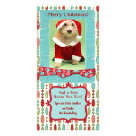 Cute Christmas Beaded Whimsy Customized Photo Card