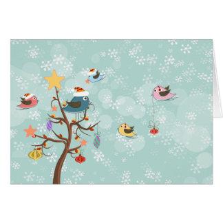 Cute Christmas Birds Card