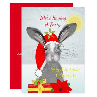 Cute christmas Bunny Rabbit Peronalized Card