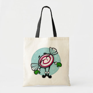 CUTE CHRISTMAS CANDY HOLIDAY BUDGET TOTE BAG