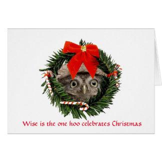 Cute Christmas Card with Owl