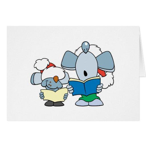 Cute Christmas Caroling Mice Cards