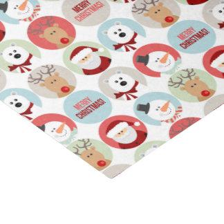 Cute Christmas Circles Tissue Paper
