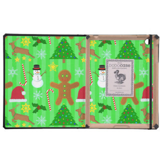 Cute Christmas Collage Holiday Pattern Cases For iPad