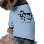 Cute Christmas Cow Dog T Shirt