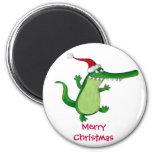 Cute Christmas Crocodile Fridge Magnets