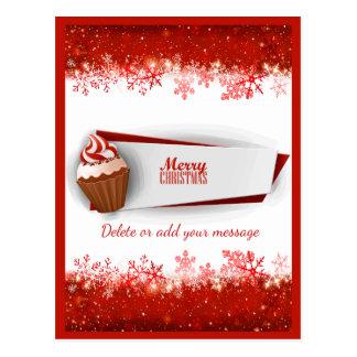 Cute Christmas Cupcake Postcard