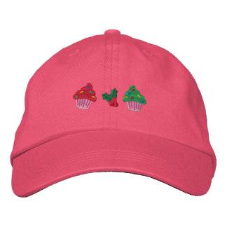 Cute Christmas Cupcakes Embroidered Baseball Caps