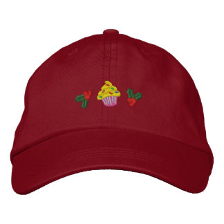 Cute Christmas Cupcakes Embroidered Hat