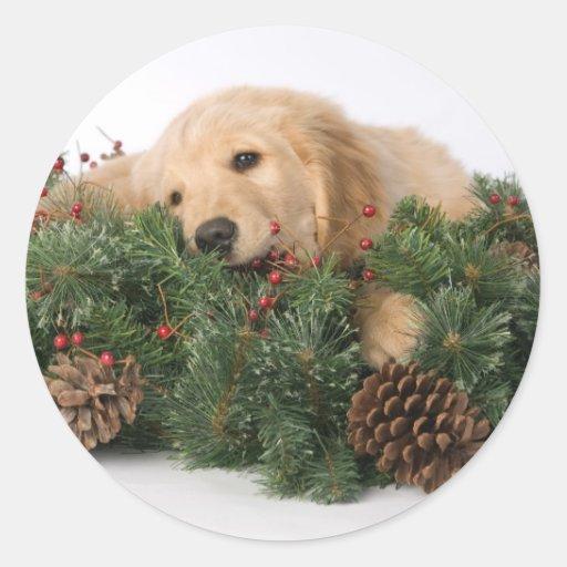Cute Christmas Dog Stickers