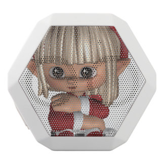 Cute Christmas Elf White Boombot Rex Bluetooth Speaker