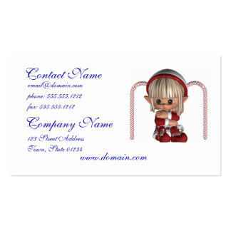 Cute Christmas Elf Business Card