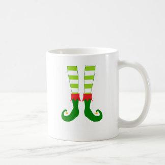 Cute Christmas Elf Feet Coffee Mugs