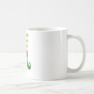 Cute Christmas Elf Feet Coffee Mug