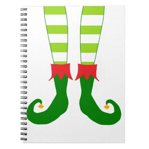 Cute Christmas Elf Feet Notebook