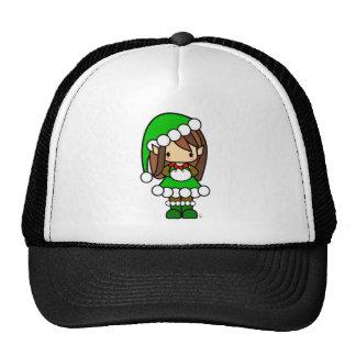 Cute Christmas Elf Girl Trucker Hat
