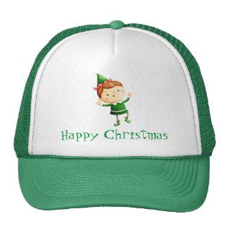 Cute Christmas Elf Mesh Hat