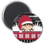 Cute Christmas Elf Magnet Refrigerator Magnets