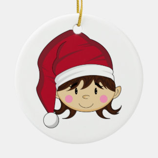 Cute Christmas Elf Ornament