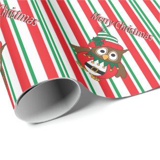 Cute Christmas Elf Owl