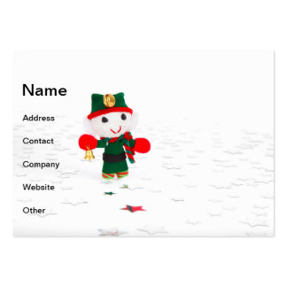 Cute Christmas elf toy Business Cards