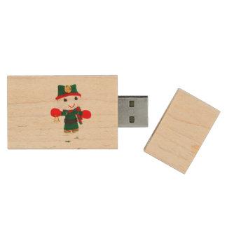 Cute Christmas elf toy Wood USB 2.0 Flash Drive