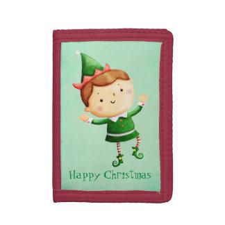 Cute Christmas Elf Tri-fold Wallets
