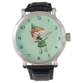 Cute Christmas Elf Wristwatch
