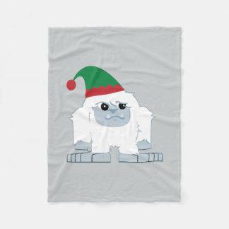 Cute Christmas Elf Yeti Fleece Blanket
