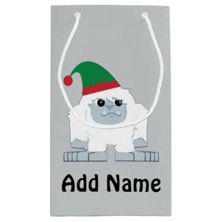 Cute Christmas Elf Yeti Small Gift Bag
