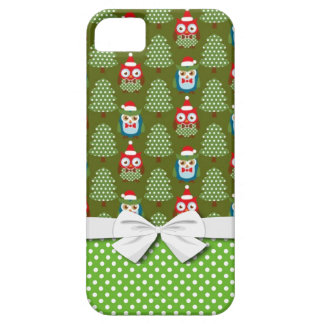 cute christmas elves santas helpers owl pattern barely there iPhone 5 case