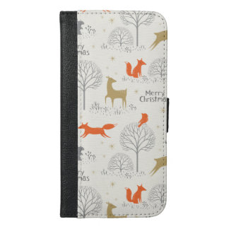 Cute Christmas forest deer rabbit - Xmas gifts iPhone 6/6s Plus Wallet Case