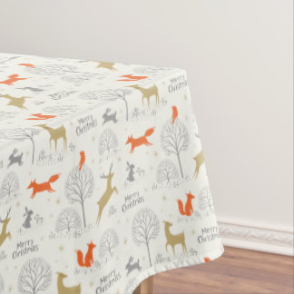 Cute Christmas forest deer rabbit - Xmas gifts Tablecloth