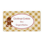 Cute Christmas Gingerbread Cookies Gift Tag Labels