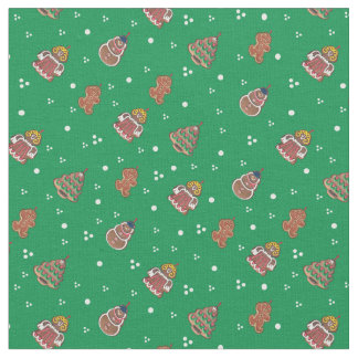 Cute Christmas Gingerbread design Fabric