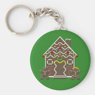 Cute Christmas Gingerbread House Key Chain