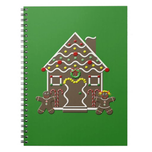 Cute Christmas Gingerbread House Notebooks