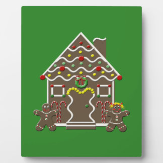 Cute Christmas Gingerbread House Photo Plaque
