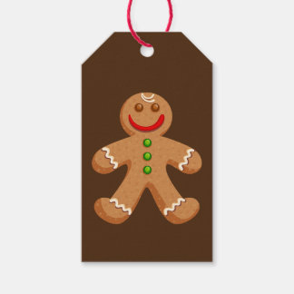 Cute Christmas Gingerbread Pack Of Gift Tags